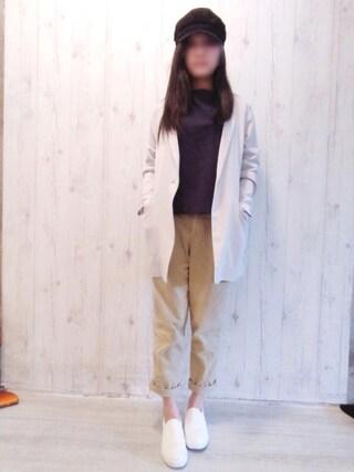 「WOMEN ダブルフェイスプルオーバー(7分袖)(ユニクロ)」 using this X*_*Ji looks