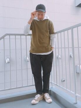 B:MING LIFE STORE by BEAMS|佐藤嘉紀さんのパーカー「 ビーミング by ビームス / サーマル プルオーバー パーカ(B:MING by BEAMS|ビーミング バイ ビームス)」を使ったコーディネート
