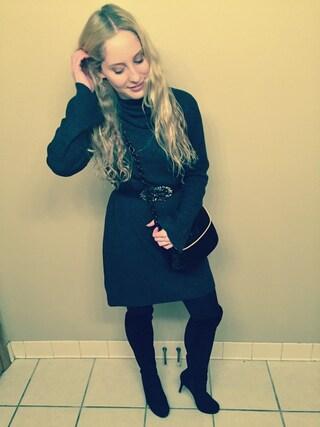 「Madewell Marled Turtleneck Dress(Madewell)」 using this Shauna Jacobs looks
