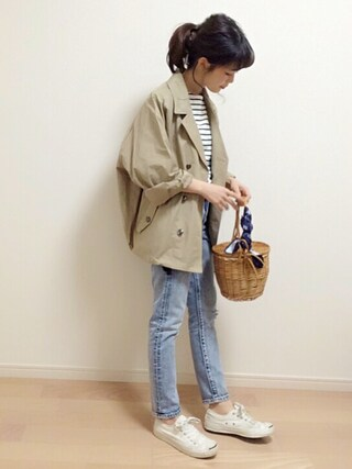 「DOORS ショートルーズトレンチ(URBAN RESEARCH DOORS WOMENS)」 using this mAy☆uMe looks