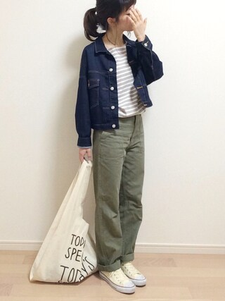 「Sonny Label 加工ボーダープルオーバー(URBAN RESEARCH Sonny Label)」 using this mAy☆uMe looks