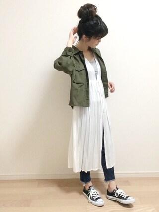 「レーヨンクレープペザント風ワンピース(LBC)」 using this mAy☆uMe looks