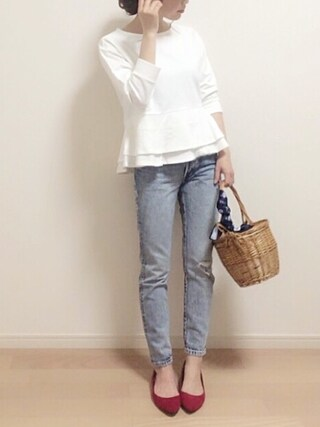 「Sonny Label ミニ裏毛ペプラムプルオーバー(URBAN RESEARCH Sonny Label)」 using this mAy☆uMe looks