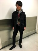 T.Tsukamotoさんの「【TECHNICAL TAILORING】スラックス(BLACK LABEL CRESTBRIDGE|ブラックレーベルクレストブリッジ)」を使ったコーディネート