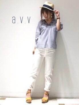 a.v.v|mio☻miloさんの(a.v.v|アー・ヴェ・ヴェ)を使ったコーディネート