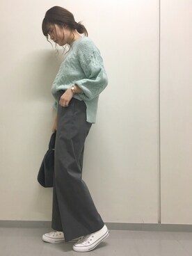 Andemiu 阪急西宮ガーデンズ店|MAYANOさんの「ブークレーケーブルニット775929(Andemiu)」を使ったコーディネート