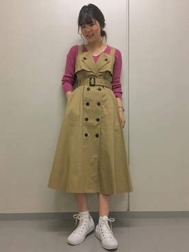 Andemiu 阪急西宮ガーデンズ店|MAYANOさんの「トレンチワンピース778542(Andemiu)」を使ったコーディネート