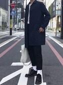 Tadashiさんの「【撥水・伸縮】ミノテックステンカラーコート/734125(GLOBAL WORK|グローバルワーク)」を使ったコーディネート
