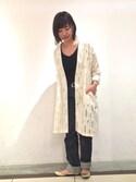 kanako fujinoさんの「【A.P.C.】DENIM NOIR NEW STANDARD(A.P.C.|アー・ペー・セー)」を使ったコーディネート