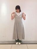 kanako fujinoさんの「【Hanes FOR BIOTOP】2-Pack  Sleeveless T-shirts(HANES|ヘインズ)」を使ったコーディネート