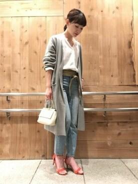 apart by lowrys/横浜ジョイナス店|INABAさんのシャツ/ブラウス「SギャザーSTDブラウス 746576 (apart by lowrys|アパートバイローリーズ)」を使ったコーディネート