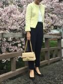 yukoさんの「ESTNATION ファンシーツイードジャケット(ESTNATION|エストネーション)」を使ったコーディネート