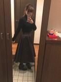 aiさんの「アシンメトリーボリュームフレアスカート(RANDA|ランダ)」を使ったコーディネート