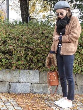 asukaさんの「【mihi、erikaコラボ】4wayバケツバッグ リングハンドルバッグ(MODE ROBE|モードローブ)」を使ったコーディネート