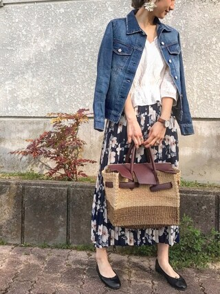 asukaさんの「デニムジャケット Gジャン(MODE ROBE|モードローブ)」を使ったコーディネート