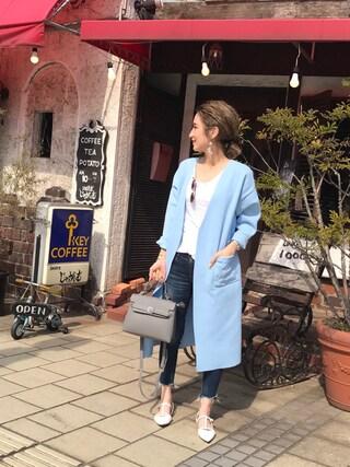 asukaさんの「ベルトフラップハンドバッグ/ショルダーバッグ【PLAIN CLOTHING】(PLAIN CLOTHING|プレーンクロージング)」を使ったコーディネート
