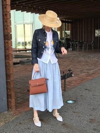 asukaさんの「ワンハンドルハンドバッグ【PLAIN CLOTHING】(PLAIN CLOTHING|プレーンクロージング)」を使ったコーディネート
