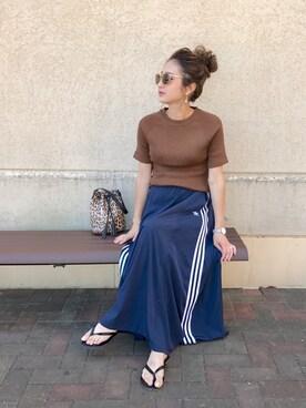 asukaさんの「オリジナルス スカート[3 STRIPES LONG SKIRT](adidas|アディダス)」を使ったコーディネート