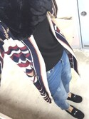 misaさんの「[リエディ]ビットモカシン/ふわふわファーモカシンローファーシューズ/デッキシューズ/靴/シューズ(Re:EDIT|リエディ)」を使ったコーディネート