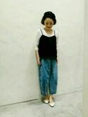 ma-suさんの「スクエアジャバラウォッチ【niko and ...】(niko and...|ニコアンド)」を使ったコーディネート