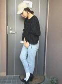 ayanoさんの「【WEB限定35,40サイズ】ポインテッドミドルヒールバレエシューズ(ROPE' PICNIC|ロペピクニック)」を使ったコーディネート