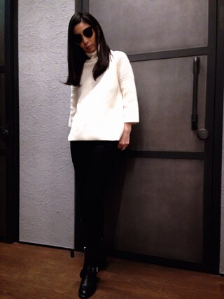 「JAGO ROLL NECK(ALLSAINTS)」 using this ALLSAINTS|Mayu (ALLSAINTS) looks