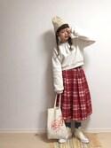 ☆★gizmo★☆さんの「リボンタイスウェット(merry jenny|メリージェニー)」を使ったコーディネート