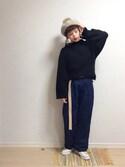 ☆★gizmo★☆さんの「たてよこTOPS(merry jenny メリージェニー)」を使ったコーディネート