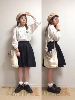 「ララ・ステラ 知的or華やか 1枚でイメチェンできるリバーシブルメモリータッチスカート(IEDIT)」 using this ☆★gizmo★☆ looks