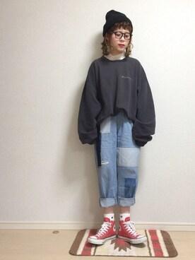 ☆★gizmo★☆さんの(CONVERSE|コンバース)を使ったコーディネート