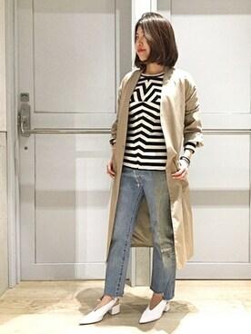 journal standard luxe 渋谷店|USABAさんのその他アウター「ノーカラーライトコート_#(JOURNAL STANDARD|ジャーナルスタンダード)」を使ったコーディネート