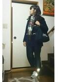志帆さんの「オリジナル被せ付きグローブ【niko and ...】(niko and...|ニコアンド)」を使ったコーディネート