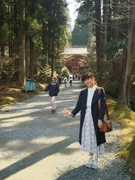 「WOMEN ダブルフェイスプルオーバー(7分袖)(ユニクロ)」 using this 志帆 looks