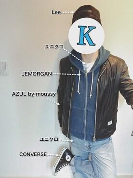 Kさんの(AZUL by moussy|アズールバイマウジー)を使ったコーディネート
