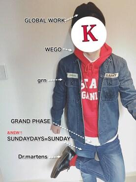 Kさんの(SEVENDAYS=SUNDAY|セブンデイズサンデイ)を使ったコーディネート