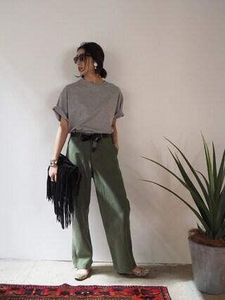 「Vintageカーゴパンツ(TODAYFUL)」 using this REIKA YOSHIDA looks