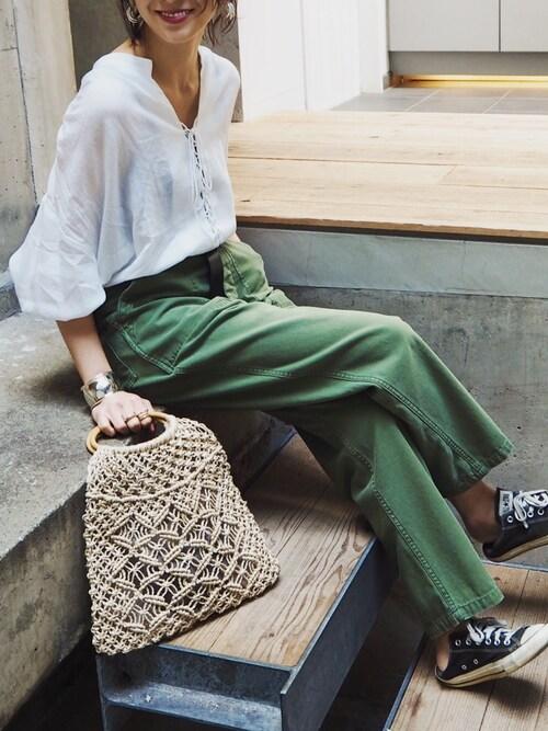 REIKA YOSHIDAさんの「Vintageカーゴパンツ(TODAYFUL)」を使ったコーディネート