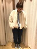 yukaさんの「【CONVERSE/コンバース】CANVAS ALLSTAR J HI:オールスターハイカット(CONVERSE|コンバース)」を使ったコーディネート
