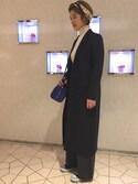 Miho Iijimaさんの「BY ベルトプリント シルクスカーフ о(BEAUTY&YOUTH UNITED ARROWS|ビューティアンドユースユナイテッドアローズ)」を使ったコーディネート