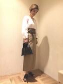 Miho Iijimaさんの「<LAURA DI MAGGIO>ドロストショルダーバッグ◇(BEAUTY&YOUTH UNITED ARROWS|ビューティアンドユースユナイテッドアローズ)」を使ったコーディネート