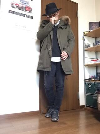 「ビッグフードモッズコート(VOGUISH)」 using this 加藤浩志 looks