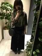 「スーピマタイプライターミリタリーシャツ#(JOURNAL STANDARD)」 using this yuko☻ looks