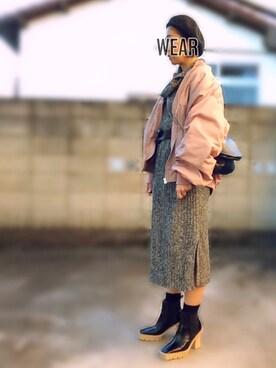 moco♡さんの「パイピングベレー(TODAYFUL)」を使ったコーディネート