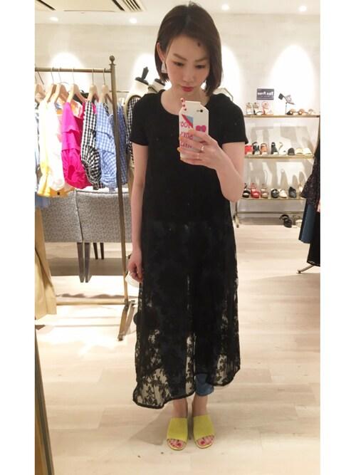 omekashi 新宿ルミネエスト店 kitanoさんのTシャツ/カットソー「クルーリブT(mystic|ミスティック)」を使ったコーディネート