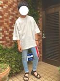 RYOさんの「7分袖 BIGTシャツ(Lui's|ルイス)」を使ったコーディネート