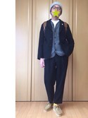 tenさんの「VOU / 棒BOY PIN BADGE(TOKYO CULTUART by BEAMS|トウキョウカルチャートバイビームス)」を使ったコーディネート