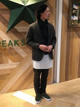 Yoshinori Ishiharaさんの(Engineered Garments|エンジニアードガーメンツ)を使ったコーディネート