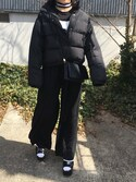夏子さんの「WEGO/ショート中綿ジャケット(WEGO|ウィゴー)」を使ったコーディネート