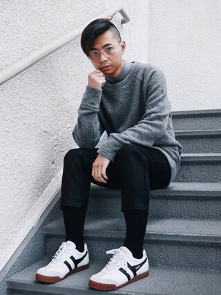 「Acne Studios Chet Donegal Merino Wool-Blend Sweater(Acne Studios)」 using this Tommy Lei (MYBELONGING) looks