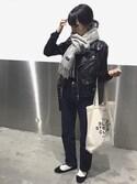 mayumi+さんの「JEAN HIGH STANDARD 16P(A.P.C.|アー・ペー・セー)」を使ったコーディネート